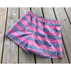 Vintage Polo Sport Swim Trunks